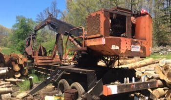 90s Hood 28000 Log Loader w/ 1600 Hydro Saw Buck full